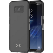 UA Protect Verge Case for Galaxy S8+ - Clear/Translucent Smoke/Gunmetal Logo