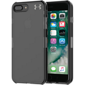 UA Protect Verge Case for iPhone 8 Plus/7 Plus - Clear/Translucent Smoke/Gunmetal Logo