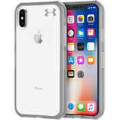UA Protect Verge Case for iPhone X - Clear/Graphite/Gunmetal Logo