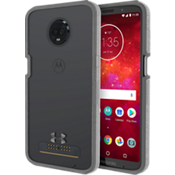 UA Protect Verge Case for moto z3 - Clear/Graphite/Gunmetal Logo