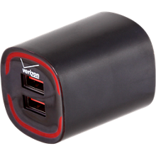 3.4A Travel Charger with Dual Output - Black