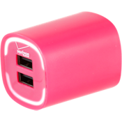 3.4A Travel Charger with Dual Output - Pink