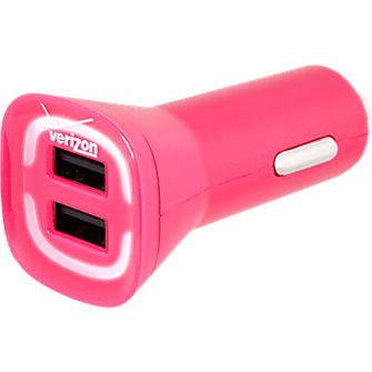 4.8A Vehicle Charger with Dual Output - Pink