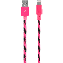 Braided Charge and Sync Cable for Apple Lightning - Pink