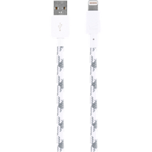 Braided Charge and Sync Cable for Apple Lightning - White