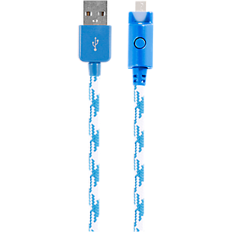 Braided Charge and Sync Cable for micro USB - Blue