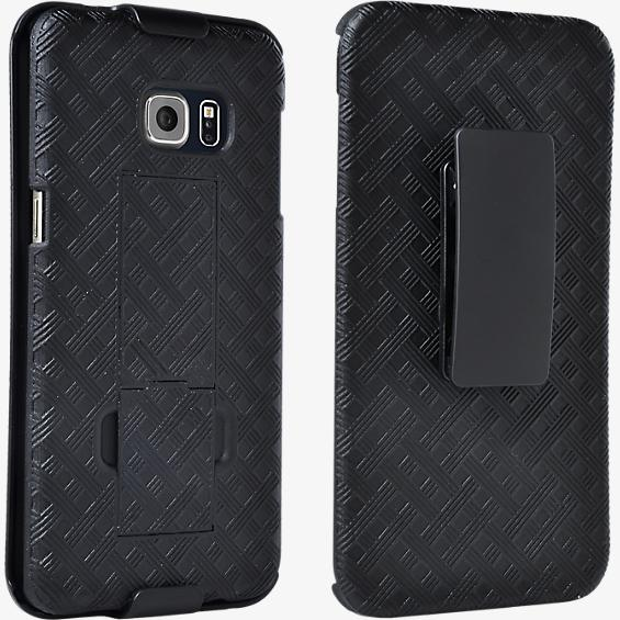 Shell Holster Combo with Kickstand for Samsung Galaxy S 6 edge+