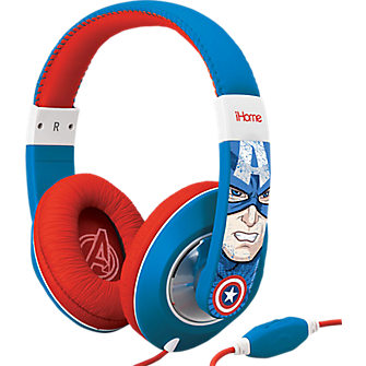 KIDdesigns Captain America  Over-the-Ear Headphones with Volume Control