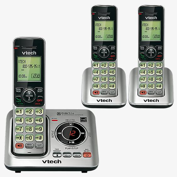 3 Handset Cordless Answering System with Caller-ID and Call-Waiting