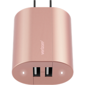 Wall Charger with Dual USB Ports - Rose Gold