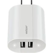 Wall Charger with Dual USB Ports - White