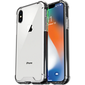 Clear Protective Case for iPhone X - Clear/Black