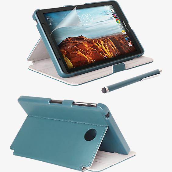 Folio Case, Screen protector and Stylus Pen Bundle for Ellipsis 8