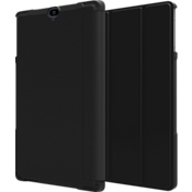 Folio Case & Tempered Glass Bundle for Ellipsis 8 HD - Black