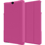 Folio Case & Tempered Glass Bundle for Ellipsis 8 HD - Pink