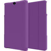 Folio Case & Tempered Glass Bundle for Ellipsis 8 HD - Purple