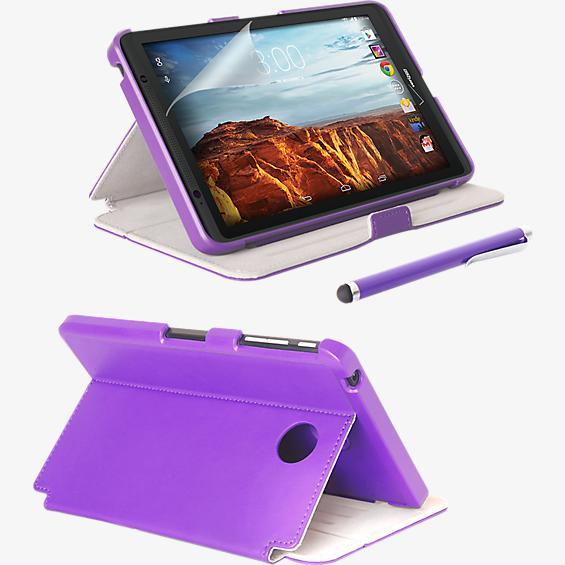 Folio Case, Screen protector and Stylus Pen Bundle for Ellipsis 8