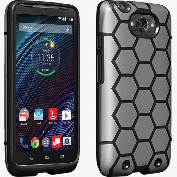 Geometric Case for DROID Turbo - Black and Gray