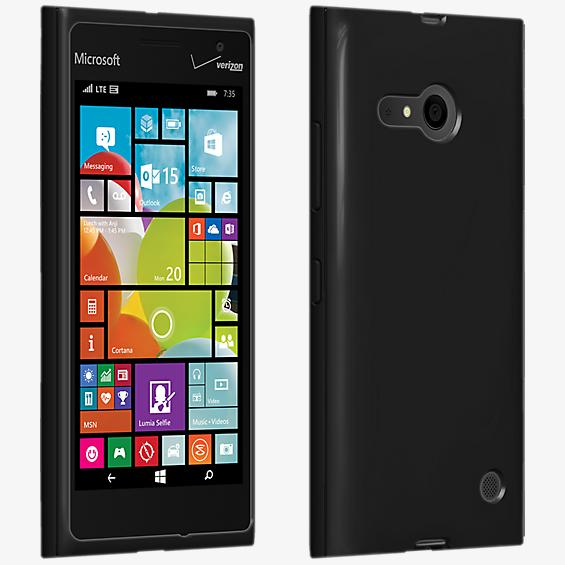 High Gloss Silicone Cover Microsoft Lumia 735 - Black