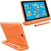 Kick-stand Cover w/stylus for GizmoTab - Orange
