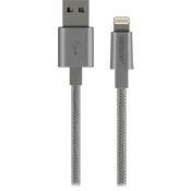 Lightning Braided Charge-and-Sync Cable - Gray