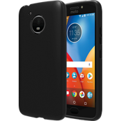 Matte Silicone Cover for Moto E4 Plus - Black