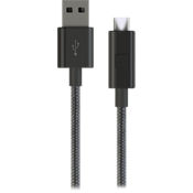 Micro USB Braided Charge-and-Sync Cable - Black