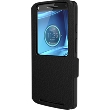 Flip Case for DROID Turbo 2 - Black Leather