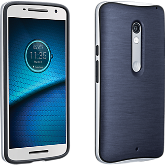 Soft Cover with Bumper for DROID Maxx 2 - Navy