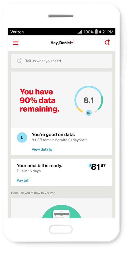 New My Verizon App