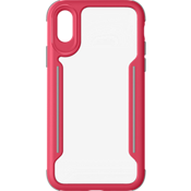 Slim Guard Clear Grip Case for iPhone XS/X - Rose Red/Grey