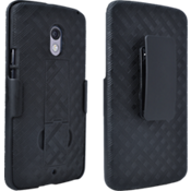 Shell Holster Combo with Kickstand for DROID Maxx 2 - Black