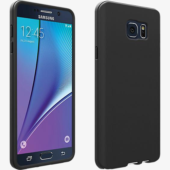 Silicone Cover for Samsung Galaxy Note 5 - Matte Black