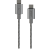 USB-C to USB-C Braided Charge-and-Sync Cable - Gray