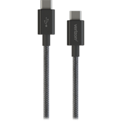 USB-C to USB-C Braided Charge-and-Sync Cable - Black