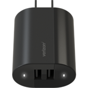Wall Charger with Dual USB Ports - Black