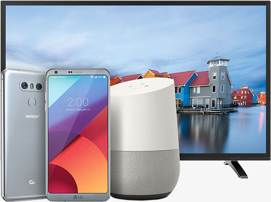LG TV and LG G6