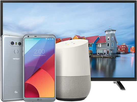 LG TV, Google Home, LG G6