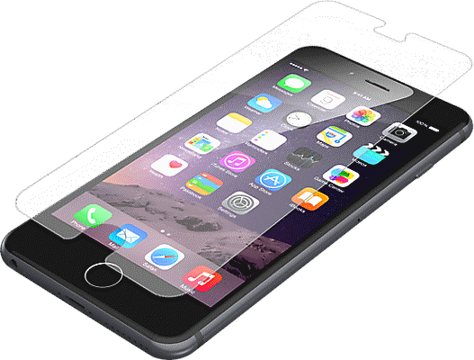 the latest b324b 99f86 InvisibleShield Glass+ Screen Protector for iPhone 8 Plus/7 Plus/6s Plus/6  Plus