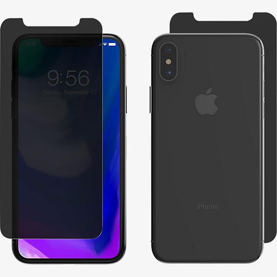 InvisibleShield Privacy Glass+ for iPhone X