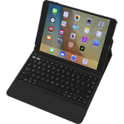Rugged Messenger Book Keyboard Folio Case for iPad - Black