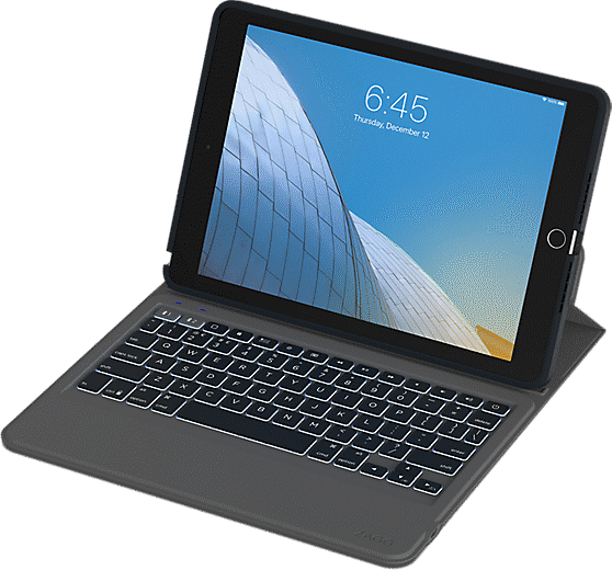 Zagg Rugged Messenger Keyboard Folio Case For Ipad 10 2
